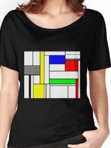 Faux Mondrian September Women's Relaxed Fit T-Shirt