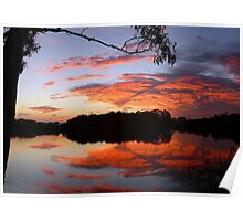 Red Dawn Skyscape Poster