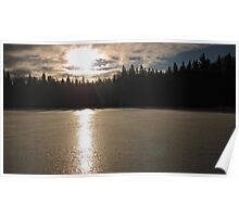 Sunrise over Twin Lakes Poster