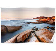 Seascape #10 - The Gulch, Bicheno, Tasmania Poster