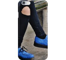 blue suede shoes  iPhone Case/Skin