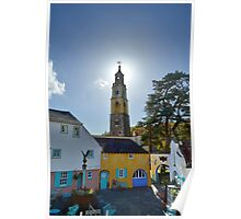 The Bell Tower at PortMeirion Poster