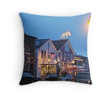 Main Street, Bar Harbor Summer Night, ME Throw Pillow