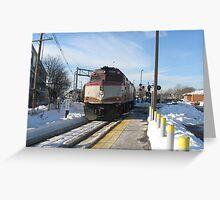 1060 MBTA Commuter Rail Part 2 Greeting Card