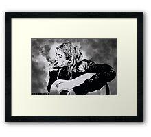 Kurt Cobain - Smoke Framed Print