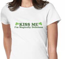 Kiss Me I'm Irish Womens Fitted T-Shirt