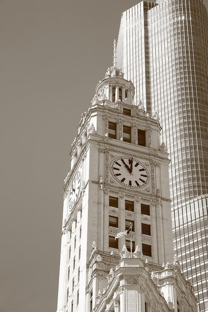 Chicago Clocktower by Frank Romeo