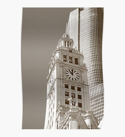 Chicago Clocktower Poster