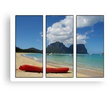 Lord Howe Island triptych Canvas Print