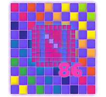Vaporwave-The Neon of 1986 Pixel Logo: N86 Photographic Print