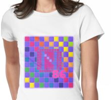 Vaporwave-The Neon of 1986 Pixel Logo: N86 Womens Fitted T-Shirt