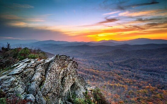 The Test of Time - Grandfather Mountain Sunset by Dave Allen