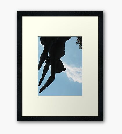 Double Dive Framed Print