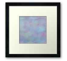 Pastel abstract geometric mosaic tiles Framed Print