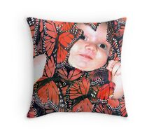 Butterfly Baby Throw Pillow