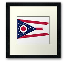 Ohio Columbus USA State Flag Bedspread T-Shirt Sticker Framed Print