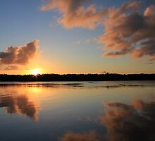~ Clarence River Sunset ~ Palmers Island, NSW by Bree Lucas