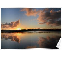 ~ Clarence River Sunset ~ Palmers Island, NSW Poster
