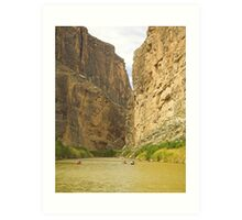 Busy Day on the Rio Grande Art Print