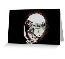 Spill way Greeting Card