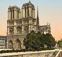 Vintage Paris Photo - Notre Dame Cathedral - c1895 by VintageParis