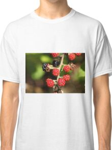 Red and black blackberry fruits. Classic T-Shirt