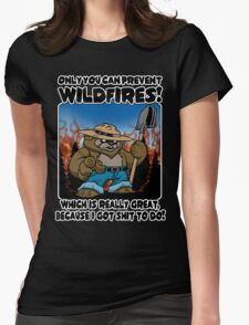 Wildfires!!! Womens Fitted T-Shirt
