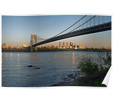 Sunset over Manhattan Poster