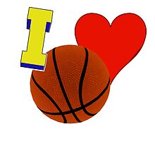 I Love Basketball by Buckwhite