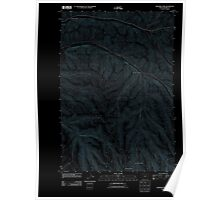 USGS Topo Map Oregon Skinners Fork 20110903 TM Inverted Poster