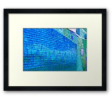 Bikers Hit The Wall Framed Print