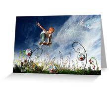 Skateboarder and friends Greeting Card