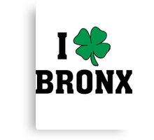 I Love (Shamrock) Bronx Canvas Print