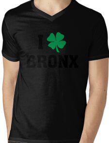I Love (Shamrock) Bronx Mens V-Neck T-Shirt