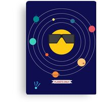 """""""Planets Only"""" Club Canvas Print"""