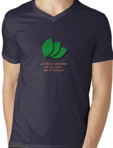 the sacred coca is not a drug... Mens V-Neck T-Shirt