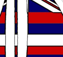 Hawaii flag sailboat Sticker