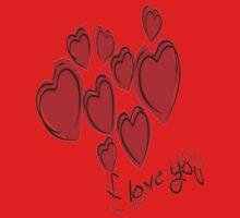 Love Hearts  Baby Tee