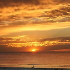 Beach Sunset at Largs Bay South Australia by burrster