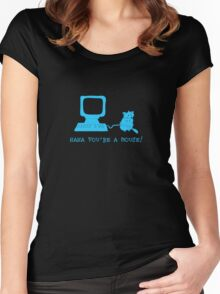 Haha you're a mouse Women's Fitted Scoop T-Shirt