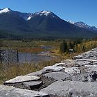 stone wall to mountains by vernonite