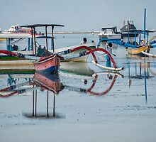 Mirrored Boat Reflections by JohnKarmouche
