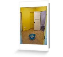 Yellow room and blue tub Greeting Card