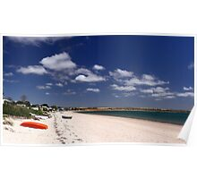 Beachscape on a sunny day Poster