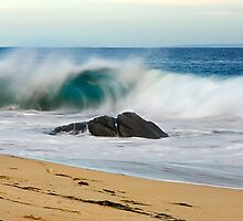 Crashing Wave at Butlers Beach South Australia by burrster