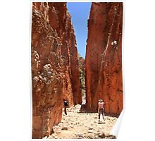 Midday at Stanley Chasm Nothern Territory Poster