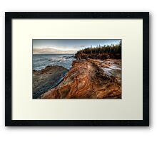Morning at the Tennis Courts Framed Print