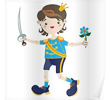 Boy role game playing as a prince. Poster