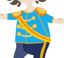 Boy role game playing as a prince. Sticker