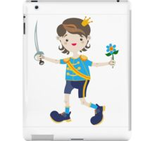 Boy role game playing as a prince. iPad Case/Skin